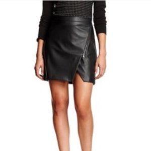 Banana Republic black faux leather mini skirt